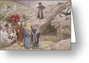 Saint Joseph Greeting Cards - Saint John the Baptist and the Pharisees Greeting Card by Tissot