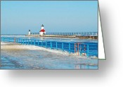Saint Joseph Greeting Cards - Saint Joseph North Pier 2603 Greeting Card by Michael Peychich