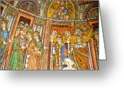 Basilica San Marco Greeting Cards - Saint Marks Basilica Mosaic Greeting Card by David Waldo