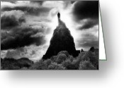 Silver Gelatin Greeting Cards - Saint Michaels Church Greeting Card by Simon Marsden