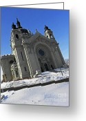 Churches Photo Greeting Cards - Saint Pauls Cathedral Greeting Card by Elizabeth Hoskinson