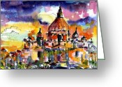 Europe Painting Greeting Cards - Saint Peter Basilica Rome Italy Greeting Card by Ginette Fine Art LLC Ginette Callaway
