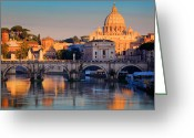 Trips Greeting Cards - Saint Peters Basilica Greeting Card by Inge Johnsson