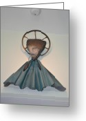 Inspirational Sculpture Greeting Cards - Saint Praise Greeting Card by Michael Jude Russo