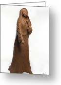 Bronze Sculpture Greeting Cards - Saint Rose Philippine Duchesne Greeting Card by Adam Long