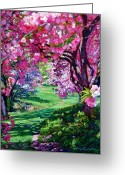 Tokyo Greeting Cards - Sakura Romance Greeting Card by David Lloyd Glover