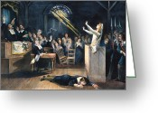 Martyr Photo Greeting Cards - Salem Witch Trial, 1692 Greeting Card by Granger