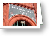 Lads Greeting Cards - Salford Lads Club Greeting Card by Colin Shorrock