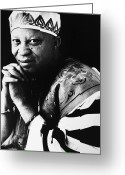 Singer Songwriter Greeting Cards - Salif Keita (1949- ) Greeting Card by Granger