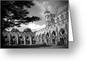 Shutter Bug Greeting Cards - Salisbury Cathedral BW Greeting Card by Kamil Swiatek