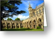 Shutter Bug Greeting Cards - Salisbury Cathedral Greeting Card by Kamil Swiatek