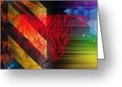Abstract Framed Prints Framed Prints Greeting Cards - Sallys Road  Greeting Card by Jerry Cordeiro