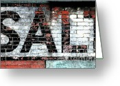 Barn Mixed Media Greeting Cards - Salt Greeting Card by adSpice Studios