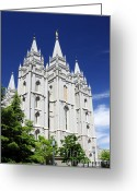 Salt Lake City Temple Photo Greeting Cards - Salt Lake Mormon Temple Greeting Card by Charline Xia