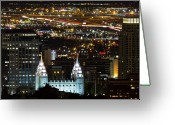 Mormon Temple Photography Greeting Cards - Salt Lake Temple Greeting Card by Photo by Jim Boud