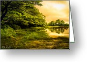 Serene Greeting Cards - Salt Marsh Kittery Maine Greeting Card by Bob Orsillo