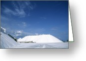 Mound Greeting Cards - Salt Pan Industry Greeting Card by Alan Sirulnikoff