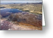 Desolate Landscapes Greeting Cards - Salt Patterns And Reflections Greeting Card by Michael Poliza