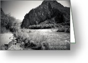 Monochrome Greeting Cards - Salt River Greeting Card by Arne Hansen