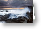 Horn Greeting Cards - Salt Spray Sunset Greeting Card by Mike  Dawson