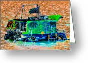 Florida Living Greeting Cards - Salt water living Greeting Card by David Lee Thompson