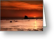Seaview Greeting Cards - Saltwick Bay Dawn Greeting Card by Svetlana Sewell