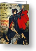 Devastation Greeting Cards - Salvation Army Poster, 1919 Greeting Card by Granger