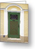Wall Street Greeting Cards - Salzburg Door Greeting Card by Derek Selander
