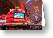 Fremont Street Greeting Cards - Sam Boyds Fremont Casino Greeting Card by Andy Smy