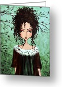 Featured Mixed Media Greeting Cards - Samanthas Chocolate Tree Greeting Card by Debbie Horton