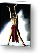 Red Shoes Greeting Cards - Samba Celebration Greeting Card by Richard Young