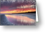 Digital Prints Greeting Cards - Same Night Six Fifteen Greeting Card by Phill  Doherty