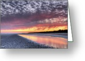 Tonemapped Greeting Cards - Same Night Six Thirteen PM Greeting Card by Phill  Doherty