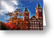 Toriaray Greeting Cards - Samford Hall in the Fall Greeting Card by Victoria Lawrence