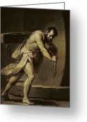 Labour Greeting Cards - Samson in the treadmill Greeting Card by Giacomo Zampa