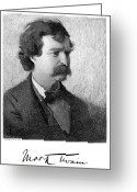 Autograph Greeting Cards - Samuel Langhorne Clemens Greeting Card by Granger