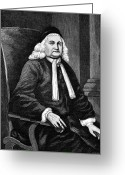 Cravat Greeting Cards - Samuel Sewall (1652-1730) Greeting Card by Granger