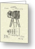 Patent Artwork Greeting Cards - Samuels Photographic Camera 1885 Patent Art Greeting Card by Prior Art Design