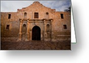 Alamo Greeting Cards - San Antonio Alamo at Sunrise Greeting Card by Samuel Kessler