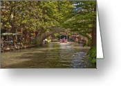 Riverwalk Greeting Cards - San Antonio Riverwalk Greeting Card by Steven Sparks
