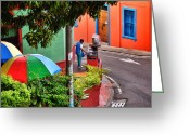 Street Vendor Greeting Cards - San Antonio Greeting Card by Skip Hunt