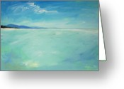 Guava Greeting Cards - San Blas Coastline Greeting Card by Angela Treat Lyon