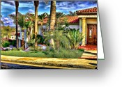 Clemente Greeting Cards - San Clemente Estate 3 Greeting Card by Kathy Tarochione
