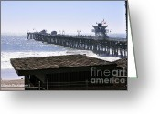 San Clemente Pier Greeting Cards - San Clemente Pier California Greeting Card by Clayton Bruster
