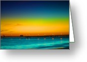 San Clemente Pier Greeting Cards - San Clemente Pier Greeting Card by DRK Studios