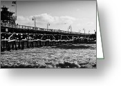 Clemente Greeting Cards - San Clemente Pier in Late Winter Greeting Card by Richard Daugherty