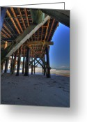 San Clemente Pier Greeting Cards - San Clemente Pier Greeting Card by Kelly Wade