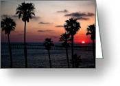 San Clemente Pier Greeting Cards - San Clemente Greeting Card by Ralf Kaiser