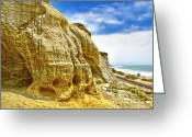 Clemente Greeting Cards - San Clemente Skull Rock Greeting Card by Gregory Dyer