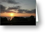 Railroad Tracks Greeting Cards - San Clemente State Beach Greeting Card by Gilbert Artiaga
